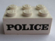Part No: 3002pb01  Name: Brick 2 x 3 with Black 'POLICE' Serif Pattern