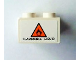 Part No: 3002pb27  Name: Brick 2 x 3 with Orange Danger Triangle and 'FLAMMABLE LIQUID' Pattern on End (Sticker) - Set 8154