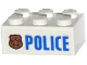 Part No: 3002pb30  Name: Brick 2 x 3 with Police Copper Star Badge and Blue 'POLICE' Pattern (Sticker) - Set 60130