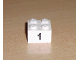 Part No: 3003pb011  Name: Brick 2 x 2 with Black  '1' Narrow Font Pattern (Sticker) - Set 8389