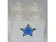 Part No: 3003pb074  Name: Brick 2 x 2 with Blue Star Pattern (Sticker) - Set 7970