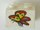 Part No: 3003pb095  Name: Brick 2 x 2 with Butterfly Pattern (Sticker) - Set 4165