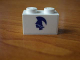Part No: 3004pb054L  Name: Brick 1 x 2 with Blue Britannia Logo Left Pattern (Sticker) - Set 1599