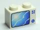 Part No: 3004pb056  Name: Brick 1 x 2 with Blue TV Screen Pattern