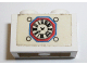Part No: 3004pb058  Name: Brick 1 x 2 with Vintage Clock Pattern (Sticker) - Set 294