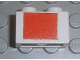 Part No: 3004pb070  Name: Brick 1 x 2 with Red Square Pattern (Sticker) - Set 6375-2