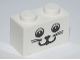 Part No: 3004pb080  Name: Brick 1 x 2 with Cat Face Pattern