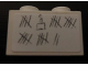 Part No: 3004pb096  Name: Brick 1 x 2 with Tally Marks and Cake with Candle Pattern (Sticker) - Set 6242