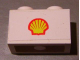 Part No: 3004pb105  Name: Brick 1 x 2 with Shell Logo Small Pattern (Sticker) - Set 7813