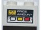 Part No: 3004pb108  Name: Brick 1 x 2 with Fuel Dispenser Meter with 'PRICE AMOUNT' Pattern (Sticker) - Set 8186