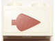 Part No: 3004pb115R  Name: Brick 1 x 2 with Dark Red Arrow Pattern Right (Sticker) - Set 10240