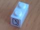Part No: 3004pb116  Name: Brick 1 x 2 with Gas/Fuel Pump Pattern on End (Sticker) - Set 8135