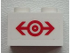 Part No: 3004pb134  Name: Brick 1 x 2 with Train Logo Red Medium Pattern (Sticker) - Set 60051