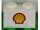 Part No: 3004pb139  Name: Brick 1 x 2 with Shell Logo Medium Pattern (Sticker) - Set 1256