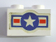 Part No: 3004pb149  Name: Brick 1 x 2 with U.S. Air Force Logo Pattern (Sticker) - Set 575-1