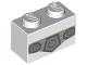Part No: 3004pb178  Name: Brick 1 x 2 with Dark Bluish Gray Belt Buckle Pattern