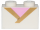Part No: 3004pb189  Name: Brick 1 x 2 with Gold Trim and Bright Pink Triangle Pattern