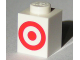 Part No: 3005pb013  Name: Brick 1 x 1 with Red Target Logo Pattern