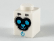 Part No: 3005pb037  Name: Brick 1 x 1 with Black Face, Medium Azure Eyes, Nose, Mouth and Power Indicator Pattern