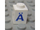 Part No: 3005ptAus  Name: Brick 1 x 1 with Blue 'A' Umlaut Pattern (Serif Font)