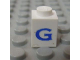 Part No: 3005ptGs  Name: Brick 1 x 1 with Blue 'G' Pattern (Serif Font)