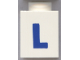 Part No: 3005ptLb  Name: Brick 1 x 1 with Blue 'L' Pattern (Bold Font)