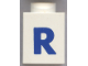 Part No: 3005ptRb  Name: Brick 1 x 1 with Blue 'R' Pattern (Bold Font)