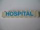 Part No: 3008pb004  Name: Brick 1 x 8 with Blue 'HOSPITAL' Pattern (Sticker) - Set 231-1
