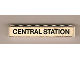 Part No: 3008pb052  Name: Brick 1 x 8 with Black 'CENTRAL STATION' Pattern (Sticker) - Set 148