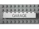 Part No: 3008pb055  Name: Brick 1 x 8 with Black 'GARAGE' Sans-Serif Thin Pattern