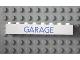 Part No: 3008pb056  Name: Brick 1 x 8 with Blue 'GARAGE' Sans-Serif Thin Pattern