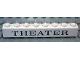 Part No: 3008pb058  Name: Brick 1 x 8 with Black 'THEATER' Serif Pattern