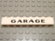 Part No: 3008pb064  Name: Brick 1 x 8 with Black 'GARAGE' Sans-Serif Thick Pattern, Elaborate 'G'