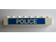 Part No: 3008pb094  Name: Brick 1 x 8 with White 'POLICE' on Blue Background Pattern (Sticker) - Set 364
