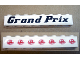 Part No: 3008pb146  Name: Brick 1 x 8 with 'Grand Prix' and Speed Racer Logo Pattern (Stickers) - Set 8161