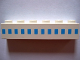 Part No: 3009pb001  Name: Brick 1 x 6 with Ferry Squares Light Blue in 1 Line At Middle Pattern