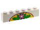 Part No: 3009pb017  Name: Brick 1 x 6 with Flower and Leaves on Yellow Arch Pattern