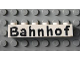 Part No: 3009pb036  Name: Brick 1 x 6 with Black 'Bahnhof' Pattern