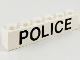 Part No: 3009pb038  Name: Brick 1 x 6 with Black 'POLICE' Sans-Serif Pattern