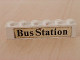 Part No: 3009pb068  Name: Brick 1 x 6 with Black 'Bus Station' Text Pattern (Sticker) - Set 379