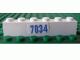 Part No: 3009pb094  Name: Brick 1 x 6 with Blue '7034' Pattern (Sticker) - Set 7034