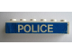 Part No: 3009pb095  Name: Brick 1 x 6 with White 'POLICE' on Blue Background Pattern (Sticker) - Set 364