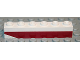 Part No: 3009pb102L  Name: Brick 1 x 6 with Dark Red Bottom Stripe Inverted Slope at Left End Pattern - Set 611-2