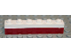 Part No: 3009pb103  Name: Brick 1 x 6 with Dark Red Bottom Stripe Pattern - Set 611-2