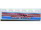 Part No: 3009pb159  Name: Brick 1 x 6 with 'RACE 555', 'WINNERS LANE' and Checkered Flag Pattern (Sticker) - Set 8125