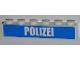 Part No: 3009pb163  Name: Brick 1 x 6 with White 'POLIZEI' Bold Narrow Font on Blue Pattern (Sticker) - Set 7743