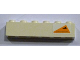 Part No: 3009pb168L  Name: Brick 1 x 6 with Orange Triangle with Black Triangle and Dots Pattern, Model Left (Sticker) - Set 7163