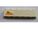 Part No: 3009pb168R  Name: Brick 1 x 6 with Orange Triangle with Black Triangle and Dots Pattern, Model Right (Sticker) - Set 7163