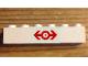Part No: 3009pb218  Name: Brick 1 x 6 with Train Logo Red Pattern (Sticker) - Set 4563