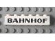 Part No: 3009px36  Name: Brick 1 x 6 with Black 'BAHNHOF' Sans-Serif Pattern